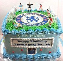kue ulang tahun bola pesanan mbak Febri