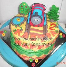 cake thomas the engine 3D dengan icing