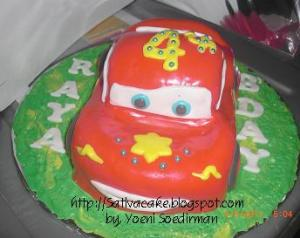 Mc Queen b'day cake