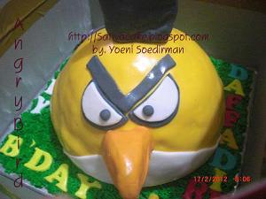 angry bird baked sweat bread 3D for Daffa Dirwas