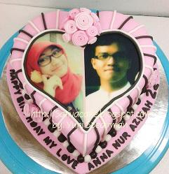cake ultah bentuk hati