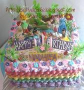 rainbow cake princess for dhifa