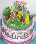 rainbow cake princess