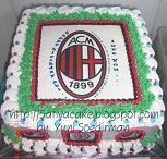 cake edible club sepak bola ac milan