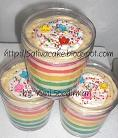 rainbow cake in jar