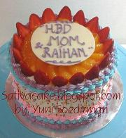 rainbow cake fruity full for  mbak mega