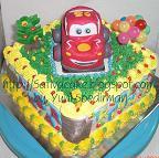 cake dengan carakter mc queen