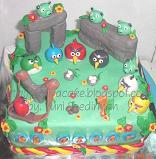 cake carakter angry bird for Attar