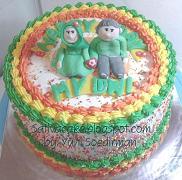 rainbow cake dengan karakter