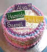 Rainbow cake pesanan mbak sari