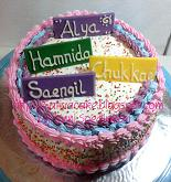 rainbow cake for Alya