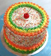 rainbow cake kecil 16 cm