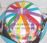 rainbow cake dg fondant icing