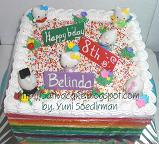 rainbow cake tema hello kitty