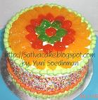 rainbow cake fruity full