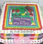 rainbow cake carakter angry bird