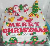 coklat cake cristmas