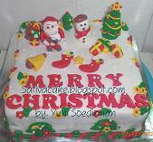 coklat cake cristmas for mbak sandha