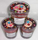 rainbow cake in jar coklat