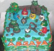 angry bird cake for Assafa