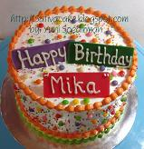 rainbow cake for mika