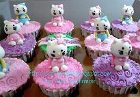 cup cake karakter hellokitty for bu dini