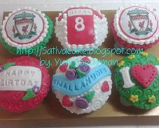 cup cake tema club bola liverpoll