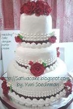 3 susun ukuran 30 cm, 20 cm dan 15 cm. semuanya cake asli...