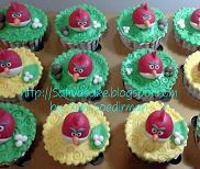 cup cake karakter angry bird for bu dini