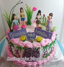 barbie cake buat qiandra