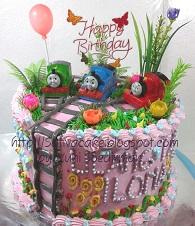 cake ultah thomas buat Ilona
