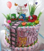 kue ulang tahun thomas pesanan mbak Dwi
