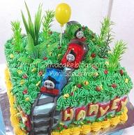kue ulang tahun thomas pesanan mbak Fanie