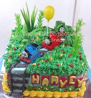 cake ultah thomas buat Harvey