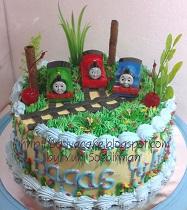 cake ultah buat Bagas