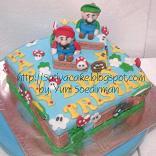 cake ultah karakter mario bross untuk tristan