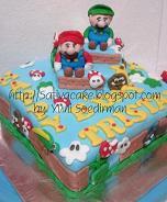 cake ultah karakter mario bross