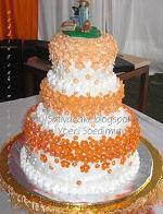 wedding cake 3 susun mbak puji. semua cake asli ...