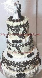 wedd cake 3 susun for mbak dinar