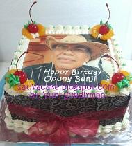 cake dengan edible foto