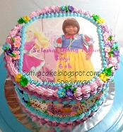 rainbow cake dengan foto  untuk Sisyi