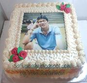 kue ulang tahun dengan edible foto for bu thelda