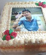 cake ultah dengan edible foto