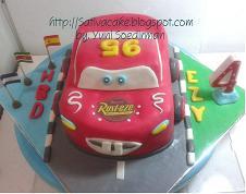 the cars cake (mc queent cake) 3D