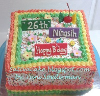 Rainbow cake for mas Andi