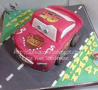 the cars cake for mbak vivi