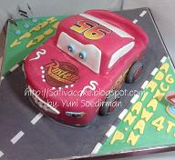 the cars cake for mbak vivi