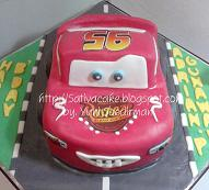 mc queen cake 3D for Adrian