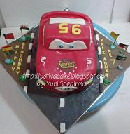 cake ulatah mc quent 3D for Faiz