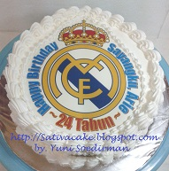 cake ultah logo club bola Real Madrid